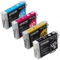Epson OEM 125 Black and Color C/M/Y Ink Cartridges (T125120-BCS)