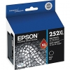 OEM Epson 252XL Black Ink Cartridge (T252XL120-S), High Yield