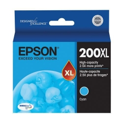Genuine Epson 200xl Cyan High Yield Ink Cartridges