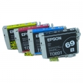 Genuine Epson 69 Ink Cartridges Full set 4 pack
