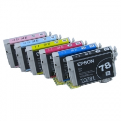 Genuine Epson 78 Ink Cartridges, full set 6 cartridges