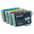 One-set (4) OEM Epson 88 Ink Cartridges For Nx110 Nx415 CX7400