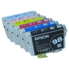 Full set 6 Packs Genuine Epson 98 Ink Cartridges - High Yield