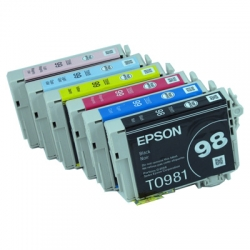 One-set (6) OEM Epson 98/99  Ink Cartridges