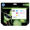 Hp OEM 02 Color Ink Cartridges (CC604FN), 5 Combo Pack