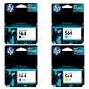One-set (4 pcs) of Hp 564 ink cartridges - OEM