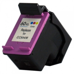 Refurbished Hp 60xl Tri-color Ink Cartridge (CC644WN), High Yield