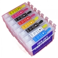 One-set (8 pcs) Refillable Epson 87 Ink Cartridges for R1900 printer
