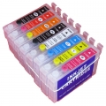 One-set (8 pcs) Refillable Epson 159 Ink Cartridges for R2000 printer