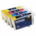 One-set (4 pcs) Epson T125 Refillable Cartridges