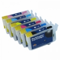 One-set (6 pcs) Epson 78 Refillable Cartridges