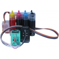Continuous ink supply system for HP Printers that Use Hp No. 92/93 ink cartridges