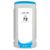 Compatible Hewlett Packard HP 72 Cyan Dye ink cartridge - 130 mL