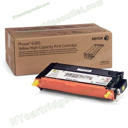 Xerox High Yield 106R01394 Yellow Toner Cartridge for Phaser 6280 (OEM)
