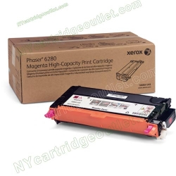 Xerox High Yield 106R01393 Magenta Toner Cartridge for Phaser 6280 (OEM)